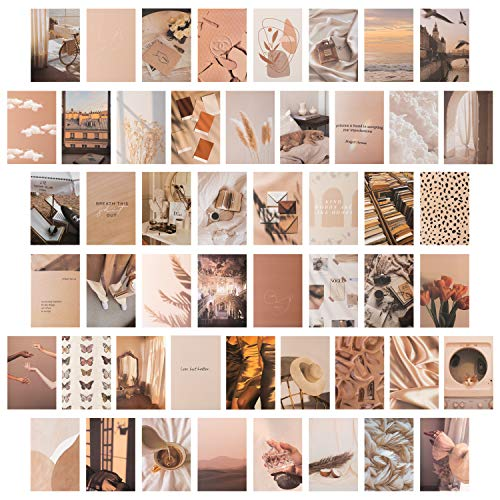 CY2SIDE 50PCS Beige Aesthetic Picture for Wall Collage, 4x6''...