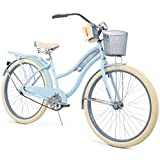 Snow Shop Everything Nel Lusso Classic Cruiser Bike Frame, Women's, Light Blue, 26'