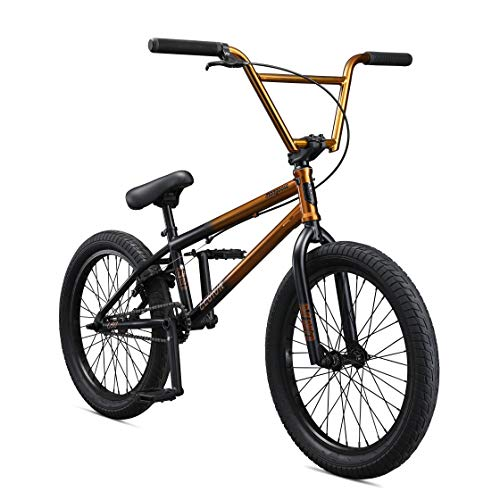 Mongoose Legion L80 Freestyle BMX Bike Line for Beginner-Level to Advanced Riders, Steel Frame, 20-Inch Wheels, Copper/Black