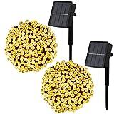 [Lot de 2] Guirlande Lumineuse Exterieure Solaire , Litogo 12M 120 LED...