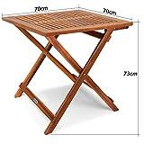 Deuba Gartentisch Klapptisch Akazie Holz Klappbar Beistelltisch Holztisch - 6