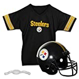 Franklin Sports Pittsburgh Steelers Kids Football Helmet and Jersey Set - NFL Youth Football Uniform Costume - Helmet, Jersey, Chinstrap - Youth M