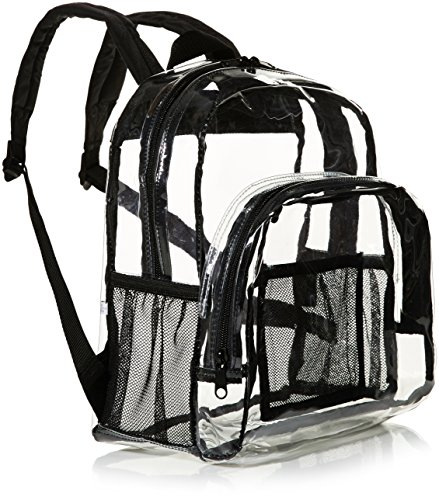 51VsDFNClJL Stadium approved—great for college stadiums, NFL football games, NASCAR races, and PGA tournaments Made of clear, water-resistant PVC plastic with reinforced bottom and stitching; ideal for everyday use Transparent tote for conveniently carrying personal items and quickly finding what you need