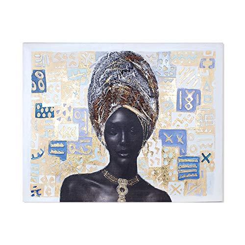 Vidal Regalos Cuadro Lienzo con Bastidor Madera Africanq 80x100 cm