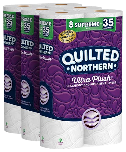Quilted Northern Ultra Plush Toilet Paper, 24 Supreme Rolls = 105...