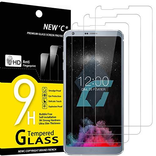 NEW'C 3 Pezzi, Vetro Temperato per LG G6, Pellicola Prottetiva Anti Graffio, Anti-Impronte, Senza Bolle, Durezza 9H, 0,33mm Ultra Trasparente, Ultra Resistente
