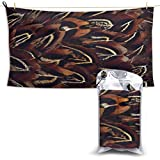 XCNGG Toallas de baño de secado rápido Toallas de baño para el hogar Toallas Quick Dry Bath Towel, Absorbent Soft Beach Towels, Colorful Bird Feathers for Camping, Backpacking, Gym, Travelling, Swimmi
