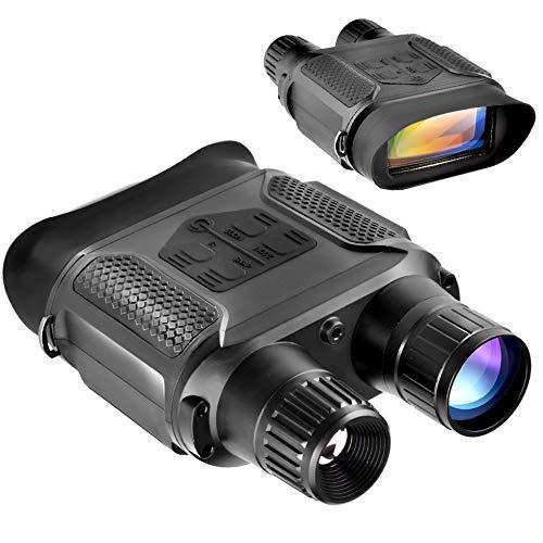 Digital Night Vision Binoculars 7x31mm-400m/1300ft Viewing Range and Super Large 4 Viewing Screen Infrared Scope in Full Dark