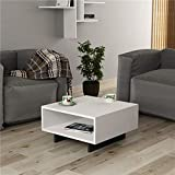 Heera Moti Corporation Box Coffee Table/Sofa Table/Center Table for Living (Finish :-White pre-Laminated Matt)