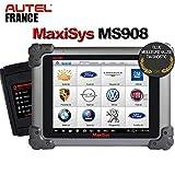 Autel Francia Autel MaxiSys MS908 S – 2 años de actualizaciones + paquete de software – Versión oficial – Maletín diagnóstico inalámbrico Bluetooth Auto Pro Multi marcas