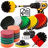 Holikme 25Piece Drill Brush Attachments Set, Scrub Pads Sponge, Power Scrubber Brush with Rotate Extend Long Attachment All purpose Clean for Grout, Tiles, Sinks, Bathtub, Bathroom, Kitchen Automobile