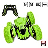 Car Toys for 6-12 Year Old Boys Remote Control Car Rechargeable RC Stunt Cars 360°Flips Double Sided Remote Control Toys 7.5Mph High Speed Race Car Birthday Gifts for Kids Adults Green