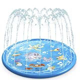 Water Baby Water Sprinkler Pad for Kids, Upgraded 68' Summer Outdoor Water Toys Wading Pool Splash Play Mat for Toddlers Baby, Outside Water Play Mat for 1-12 Years Old Children Boys Girls