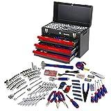 WORKPRO 408-Piece Mechanics Tool Set with 3-Drawer Heavy Duty Metal Box (W009044A)