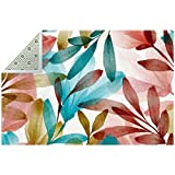Alfombra de pintura china con hojas de piso suave, antideslizante, decoración...