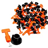 TOPWAY Tile Leveling System 200pcs Pack Reusable Tile Levelers Spacers for Building Walls Floors + Special Wrench
