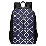 Bolsa escolar azul Quad mochila de viaje 17 pulgadas portátil bagGgDupp