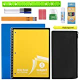 20 Piece School Supplies for K-12 Back to School and Distance Learning Supplies for Students School Supply Kit Bundle Pack for Boys and Girls