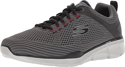 Skechers Men's Equalizer 3.0 Charcoal and Black Sneakers- 9 UK (10 US) (52927-CCBK)