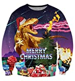 uideazone Unsiex Funny Ugly Christmas Sweater 3D Printed Crew Neck...