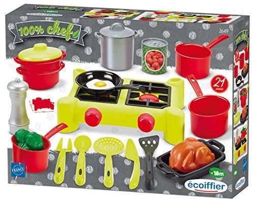 Ecoiffier- Fornello con Pentole e Accessori, 7600002649