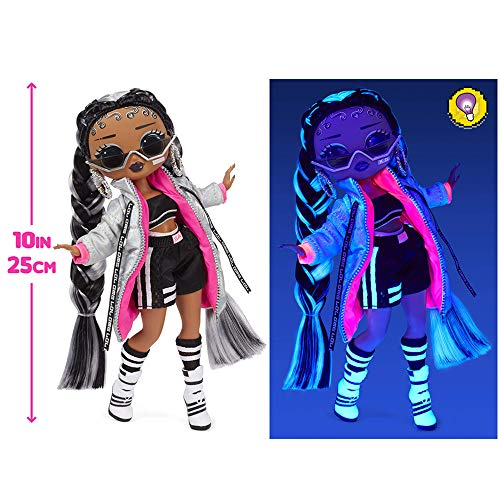 Image 4 - Poupée Mannequin LOL Surprise OMG Dance Dance Dance B-Gurl avec 15 Surprises, vêtements stylés, Lumière noire Magique, Accessoires, Chaussures, Socle, Pack TV. Pour fille de 4 ans et plus