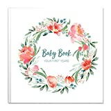 Baby Memory Book for Girls | Keepsake Milestone Journal | LGBTQ Friendly | 9.6 x 10 in. 50 Pages | Perfect Baby Shower Gift