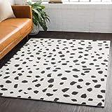 Tariffville Dalmatian Black White 5'3' x 7'3' Area Rug