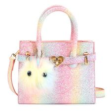 51W43cAhD+L For Little Fashionistas: This cute girls handbag comes with a stylish bow-knot.She could carries the grown-up purse around just look like her mommy and tons of compliments. Fashion & Quality Material: Made of high-quality and soft glittle polyester. Smoothly Zipper Closure design is easy for the little finger to operate it and keep your items safely. Perfect Size & Lightweight Purse: Measuring 6.7x2x6 inch. It's small but roomy enough for your princess. Perfect for a little girl to carry her phone, wallet, sunglasses, lip gloss, tissues, candy and toys, etc.