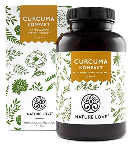 Curcuma Extrakt Kompakt - Premium: Curcumin Gehalt EINER Kapsel entspricht dem von ca. 15.000mg Kurkuma - Hochdosiert aus 95{4331881b0c79dac18788f0fa03338beae46fa9fe088565e86f17aa658c37b095} Extrakt - Laborgeprüft, vegan, hergestellt in Deutschland