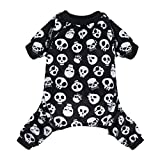 CuteBone Halloween Dog Jumpsuit Skull Shirt Pet Pajamas Bodysuit for Large Doggie Onesies P11L
