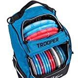Dynamic Discs Trooper Disc Golf Backpack | Heather Blue | Frisbee Disc Golf Bag with up to a 25 Disc Capacity | Introductory Disc Golf Backpack | Lightweight and Durable