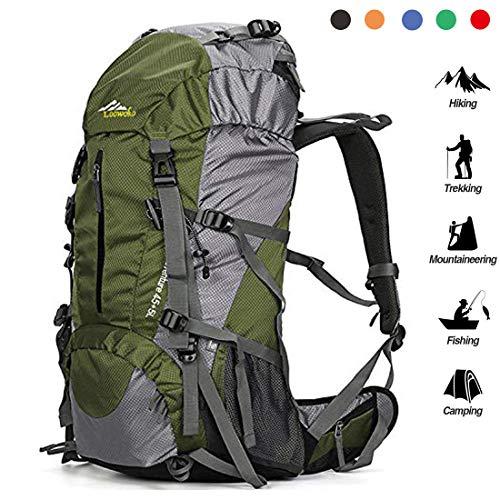 Loowoko 50L Waterproof Hiking Backpack