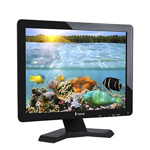 Eyoyo Monitor LCD da 17 pollici Risoluzione 1280x1024 Schermo 4: 3 FHD 1080P HD Video Audio Display HDMI BNC VGA AV USB In / OutG1 Auricolare (17 '' 1280x1024 LCD) cctv