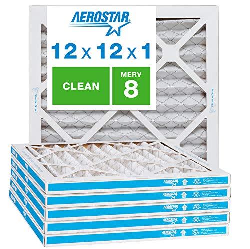 Aerostar Clean House 12x12x1 MERV 8 Pleated Air Filter Made in...