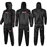 ZOR Heavy Duty Sweat Suit Sauna Exercise Gym Suit Fitness Weight Loss Anti Rip (2X-Large)