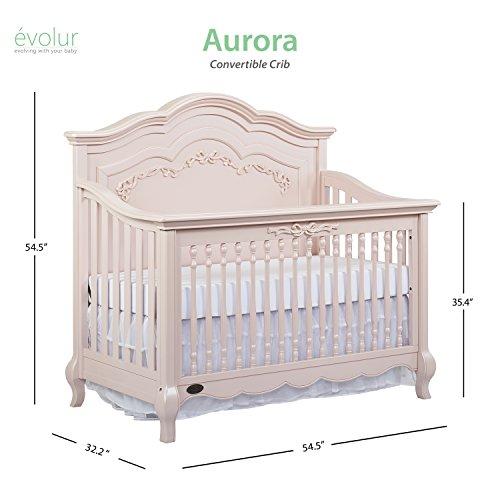 Product Image 11: Evolur Aurora 5-in-1 Convertible Crib, Blush Pink Pearl