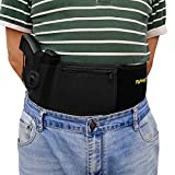 Belly Band Holster Concealed Carry,Airsoft Pistol Gun Holster OWB IWB Magazine Pocket,Fits 1911 Glock 19 23 26 42 43 22 21 27,S&W M&P Shield,Ruger Security 9,sccy cpx-2,springfield xds,Sig Sauer