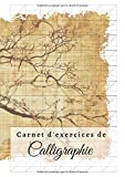 Carnet d'exercices de calligraphie: DIN A4 | 110 pages | écriture...