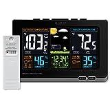 La Crosse Technology 308-1414B-INT, Black 308-1414B Wireless Atomic Digital Color Forecast Station...