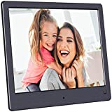 BSIMB Digital Picture Frame-Upgraded Digital Photo Frame 8 Inch 1024x768 Hi-Res Display Electronic Photo Frame with Remote Control/Motion Sensor M12