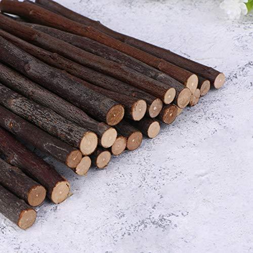 Amosfun - Lote de 30 palillos de madera para manualidades y