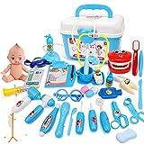 SqSYqz Toy Doctor Kit, 21 Piezas para Niños, Juguetes De Simulación, Dentista, Médico, Juego De Roles, Juguete Educativo, Doctor, Juego para Niños De 3 A 6 Años,B
