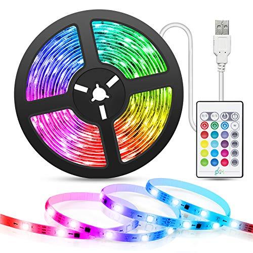 5M Striscia LED Musicale, TASMOR LED Striscia Retroilluminazione TV USB SMD 5050 RGB Sync con Musica, Luci Led 16 colorate e 4 Modalit Dinamiche Strisce Luminosa a LED per HDTV, Cucina, Festa, Bar