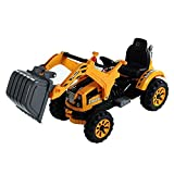 Aosom 6V Ride On Construction Vehicle Excavator Digger Toy for Kids