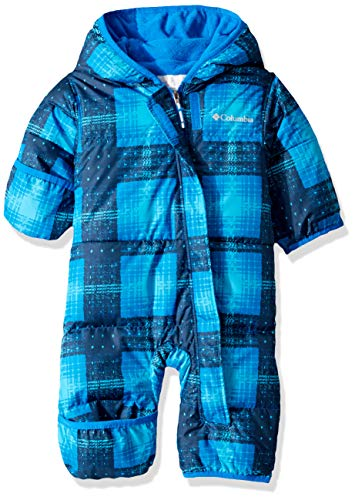 Columbia Baby Snuggly Bunny Bunting, Super Blue Plaid/Super Blue, 12/18