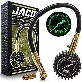 JACO BikePro Presta Tire Pressure Gauge 60 PSI - with Interchangeable Presta and Schrader Valve Air Chucks - for Mountain Bikes & Autos