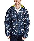 Nautica Mens Jacket Navy Blue-Sail Full-Zip Windbreaker Blue XL