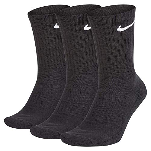 NILCO|#Nike Everyday Cush Crew 3Pr Calze Calze Da Uomo, Uomo, Black/White, L