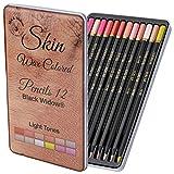 Crayons de couleur chair claire   Set Portrait   Crayons de couleur pour...